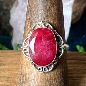 Jewelry - 🌹NWT Vintage Sterling silver & ruby ring